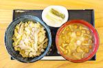 7 まいたけご飯(なめこ汁、しゃくし菜付) 800円